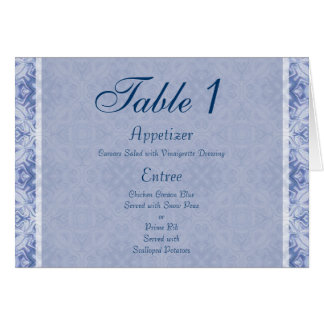 Pale Blue Pattern Wedding Card