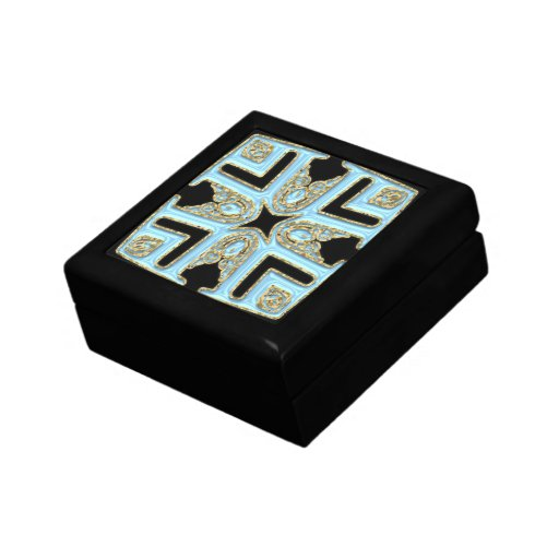 Pale blue Patterned top Gift Box