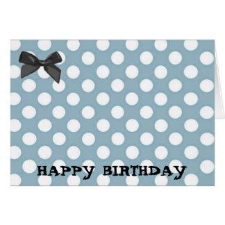 Pale Blue Polka Dot Art Greeting Card