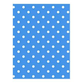 Pale Blue Polka  Dot Art Postcard