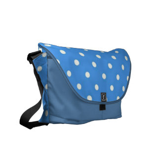 Pale Blue Polka Dot  Messenger Bag