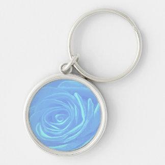 Pale Blue Rose Keychain