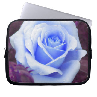 Pale Blue Rose Laptop Sleeve