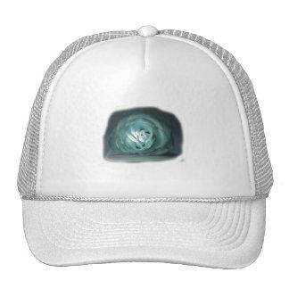 Pale Blue Rose Spolighted Cutout Trucker Hat