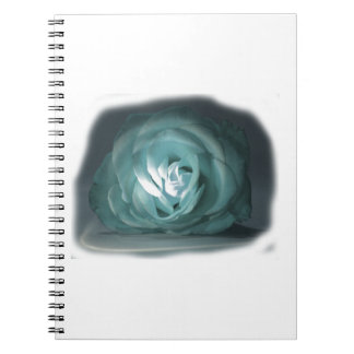Pale Blue Rose Spolighted Cutout Notebook