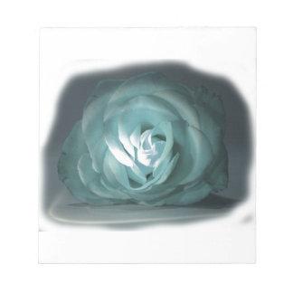 Pale Blue Rose Spolighted Cutout Scratch Pads