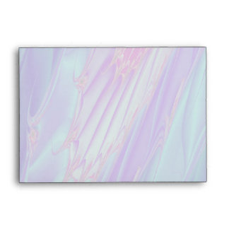 Pale Blue Seahorse on Background of Pastel Colors Envelope