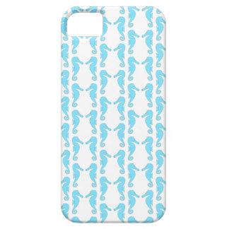 Pale Blue Seahorse Pattern iPhone SE/5/5s Case