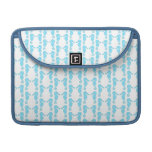 Pale Blue Seahorse Pattern Sleeve For MacBooks