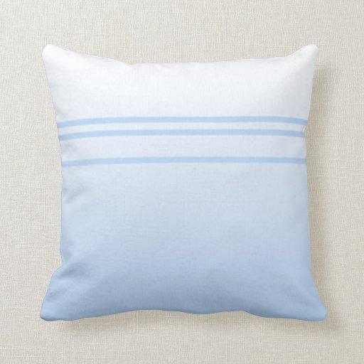 Pale Blue Simple Elegant Design. Throw Pillows