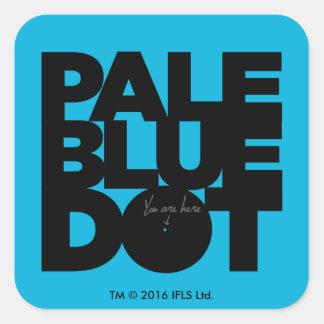 Pale Blue Square Sticker