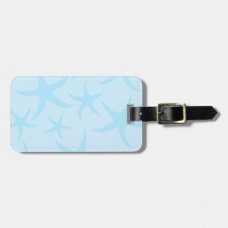 Pale Blue Starfish Pattern. Bag Tags