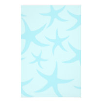 Pale Blue Starfish Pattern. Flyer