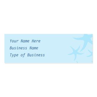 Pale Blue Starfish Pattern. Mini Business Card