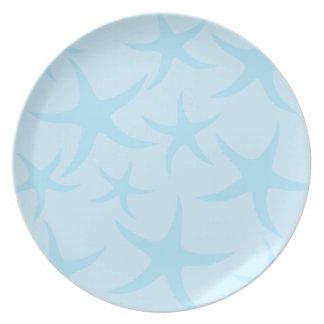 Pale Blue Starfish Pattern. Plate