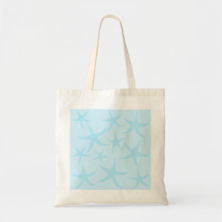 Pale Blue Starfish Pattern. Tote Bag