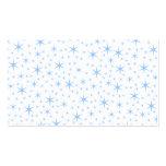 Pale Blue Stars Pattern. Business Card