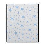 Pale Blue Stars Pattern. iPad Cases