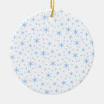Pale Blue Stars Pattern. Ornaments