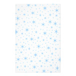 Pale Blue Stars Pattern. Personalized Stationery