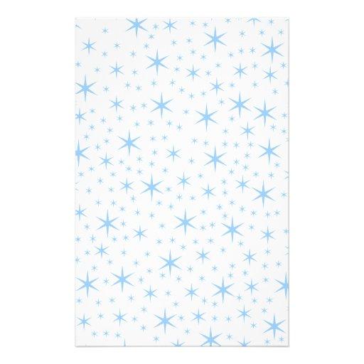 Pale Blue Stars Pattern. Stationery