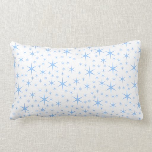 Pale Blue Stars Pattern. Throw Pillow