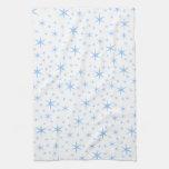 Pale Blue Stars Pattern. Towel