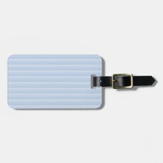 Pale Blue Stripes. Bag Tag