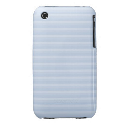 Pale Blue Stripes. Case-Mate iPhone 3 Cases
