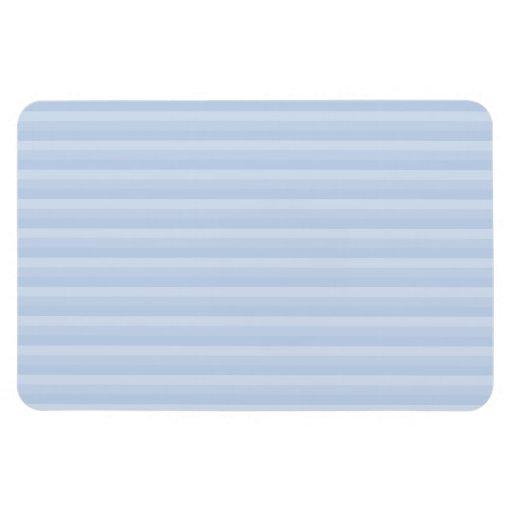 Pale Blue Stripes. Flexible Magnet