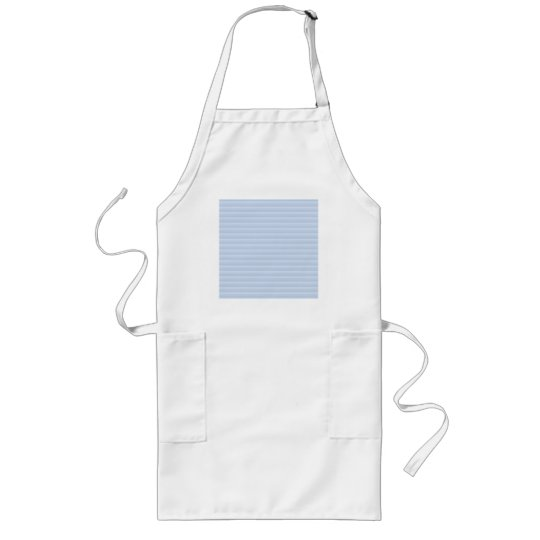 Pale Blue Stripes. Long Apron