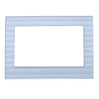 Pale Blue Stripes. Photo Frame Magnets