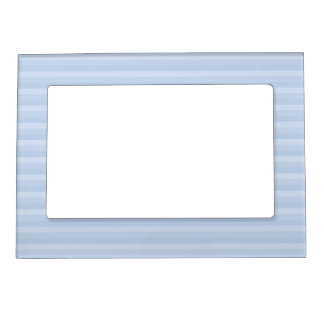 Pale Blue Stripes. Magnetic Photo Frame