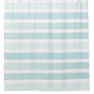 Pale Blue Stripes Pattern Classic Shower Curtain