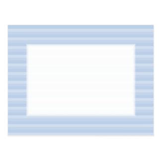 Pale Blue Stripes. Postcard