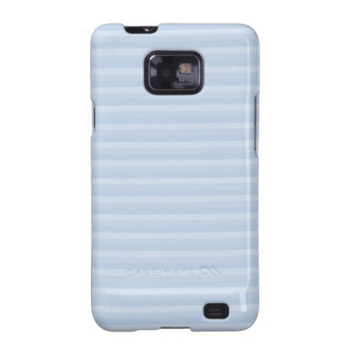 Pale Blue Stripes. Samsung Galaxy S2 Cases