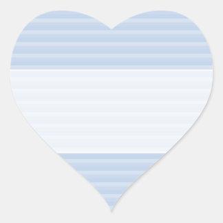 Pale Blue Stripes. Heart Sticker
