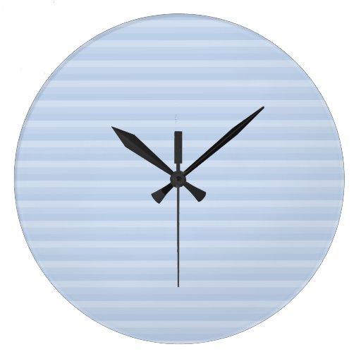 Pale Blue Stripes. Wall Clocks