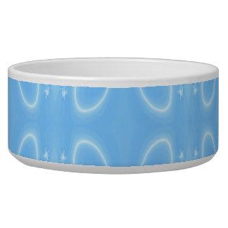 Pale Blue Swirl Pattern. Pet Food Bowls