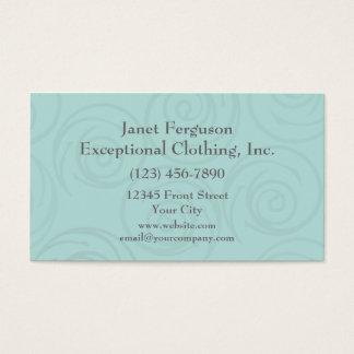 Pale Blue Swirls Business Card