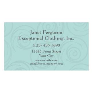 Pale Blue Swirls Business Card Templates