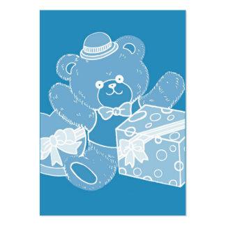 Pale Blue Teddy Bear for Boys Business Card Template
