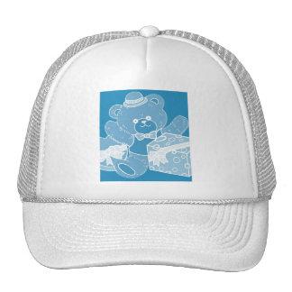 Pale Blue Teddy Bear for Boys Trucker Hat