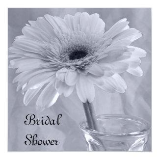 Pale Blue Tinted Daisy Bridal Shower Invitation