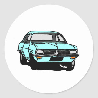 Pale Blue Viva Classic Round Sticker