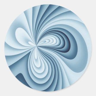 Pale Blue Waves Classic Round Sticker