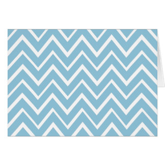 Pale blue whimsical zigzag chevron pattern card