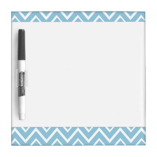 Pale blue whimsical zigzag chevron pattern dry erase board