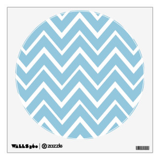 Pale blue whimsical zigzag chevron pattern wall decal