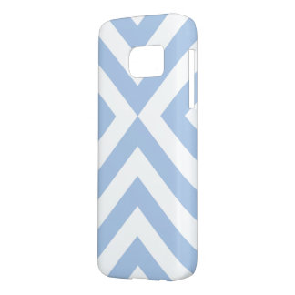 Pale Blue & White Chevrons Samsung Galaxy S7 Case